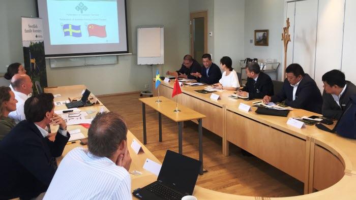 Möte med kinesiska delegationen på LRF Skogsägarna