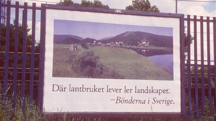 Öppna landskap, ur 1985 års kampanj. Belönad med Guldägg.