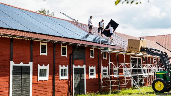 Montering av solpaneler