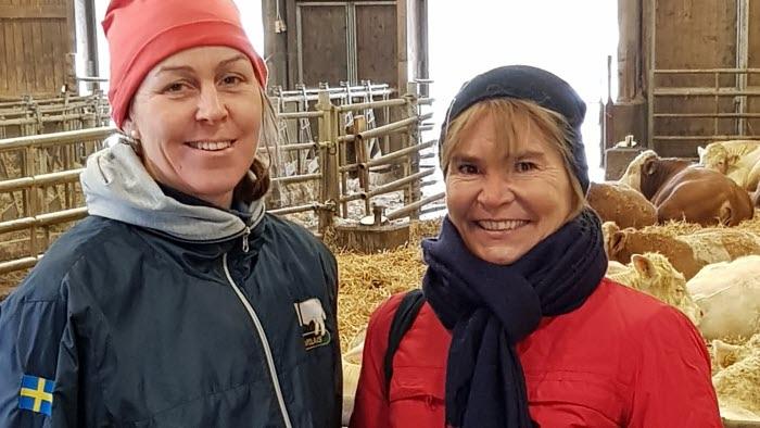 Sofia Persson, LRF Östergötland, och riksdagspolitikern Betty Malmberg (M)