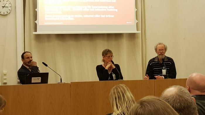 Fr.v. Peter Borring, Eva Charlotta Helsdotter, Olle Holmstrand