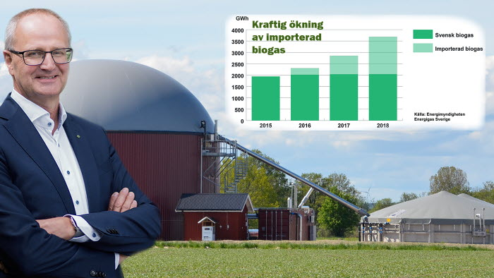 Biogasutredningen föreslår fortsatt skattebefrielse för svensk biogas. Palle Borgström positiv
