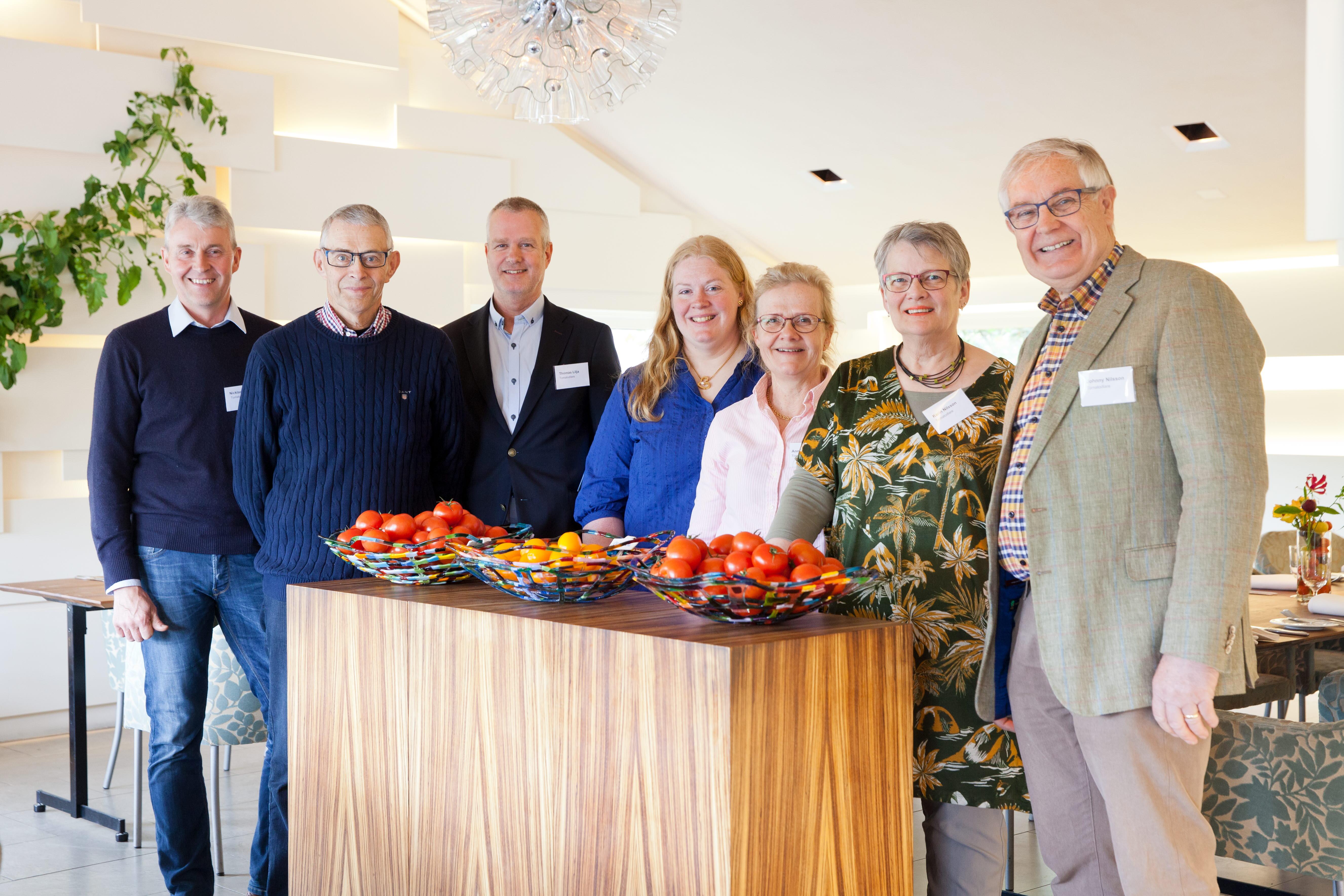 Svenska tomatodlare på plats: Nicklas Nilsson, Per Söderlund, Thomas Lilja, Caroline Andersson, Annicka Assarsson, Karin Nilsson och Johnny Nilsson