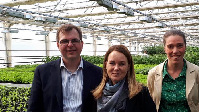 Landsbygdsminister Jennie Nilsson besökte Marcus Söderlind