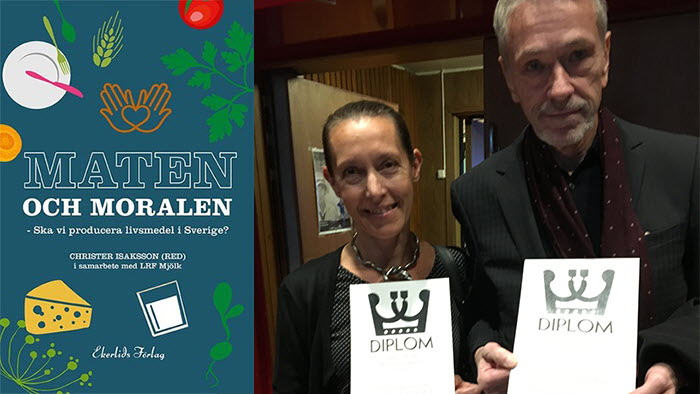 LRF Mjölks bok vann pris. Karin Hallgren och Christer Isaksson stolta pristagare