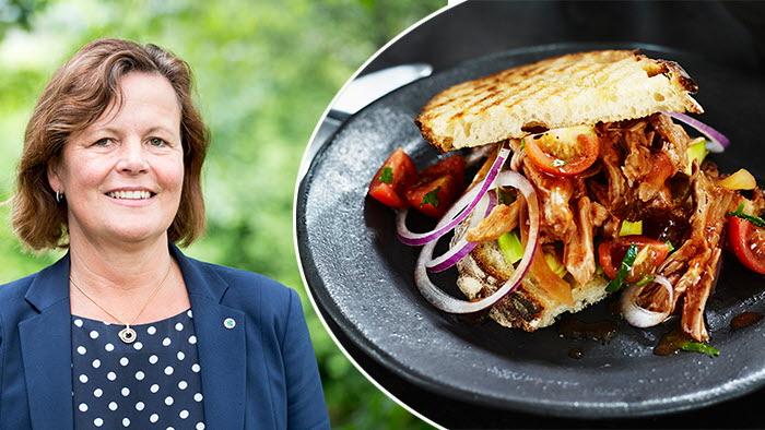 Åsa Odell positiv till regeringens förslag på ursprungsmärkning på kött på restauranger och storkök.