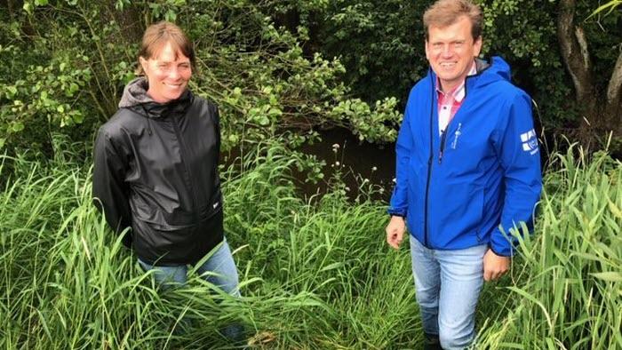 Lina Floer och Harald Lagerstedt åtgärdssamordnare LEVA Halland