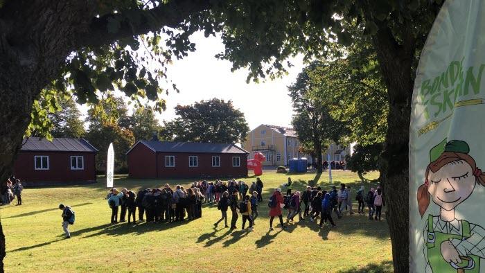 Bonden i skolan på Berga naturbruksgymnasium.