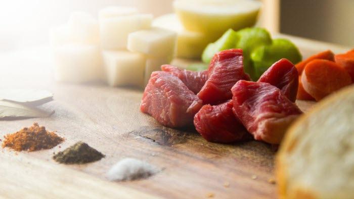 Kött mejeri grönsaker