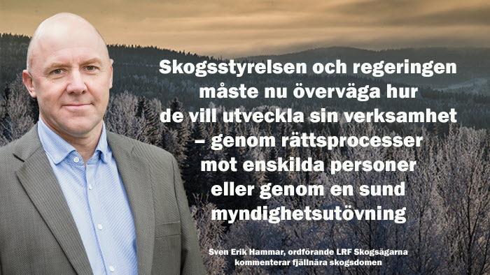 Sven Erik Hammar kommenterar domen i fjällnära skogsdomen