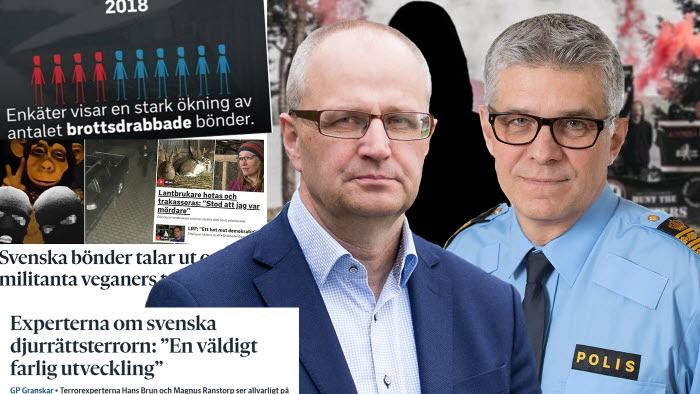 Palle Borgström i möte med rikspolischef Anders Thornberg angående hoten mot
