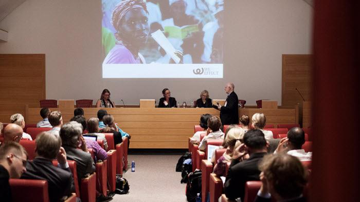 Anniqa Nygård var en av debattörerna i We Effects och Landsbygdsdepartementets seminarium om jämställdhet i Rom. Foto: FAO/Annibale Greco