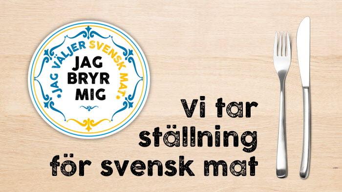 Kockar tar ställning för svensk mat, Vi tar ställning, Jag bryr mig