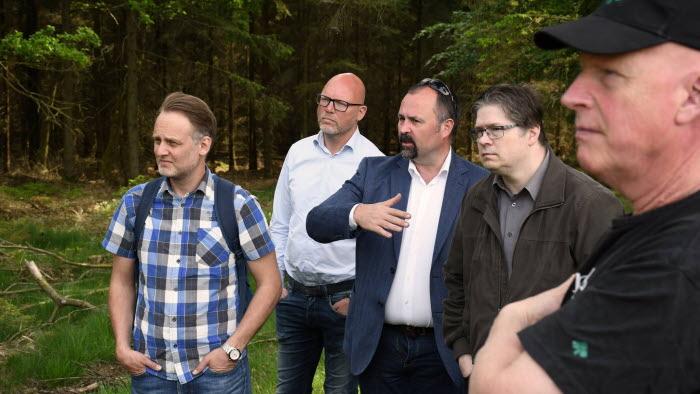 Fyra politiker och Anders Richardsson, LRF