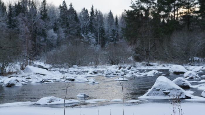 vatten, vinter