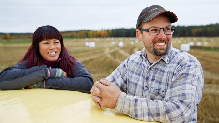 Sara och Ola Hortlund, Lillbäcken AB, Årets gröna företag i Norrbotten 2019