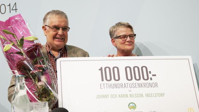 Johnny och Karin Nilsson, Ingelstorp, Ystad - Vinnare av Hållbarhetsstipendiet 2014