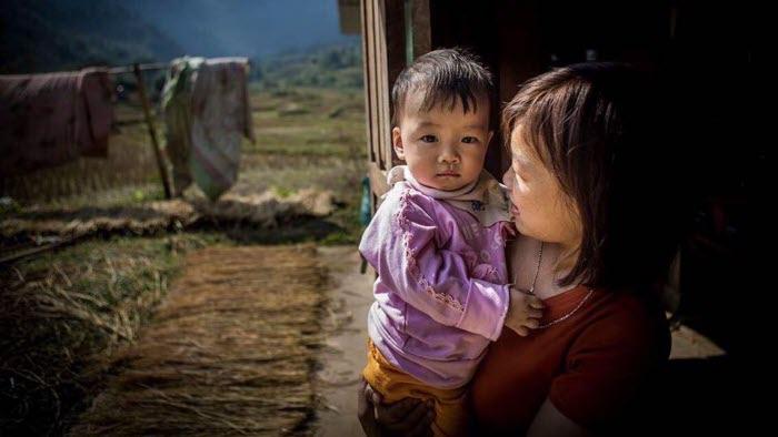We Effect Vietnam Trieu Thi Vang och hennes barn Thao Vi