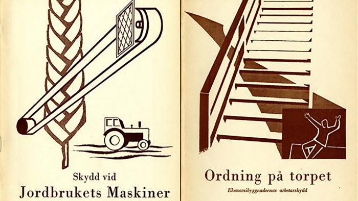 Omslag gjorda under 1950-talet av Carl-Erik Bodén.
