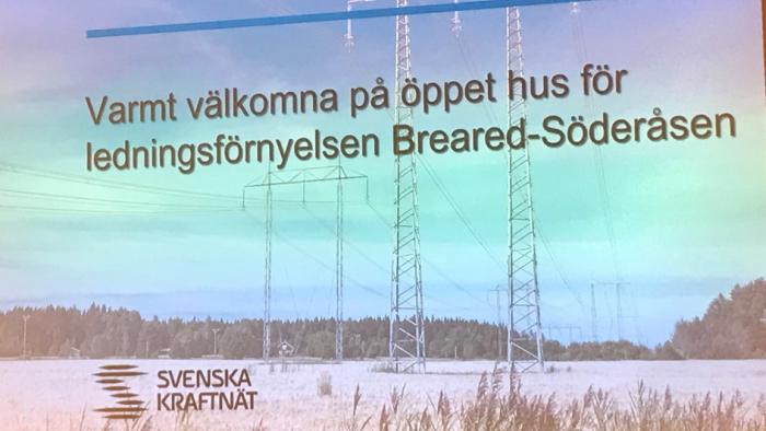 Informationsmöte med Svenska Kraftnät, till Hallands nyhetsbrev 200131