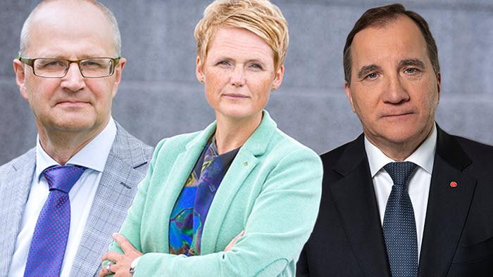 Palle Borgström och Anna Karin Hatt kritiserar Stefan Löfvéns och regeringens inställning till EUs jordbrukspolitik