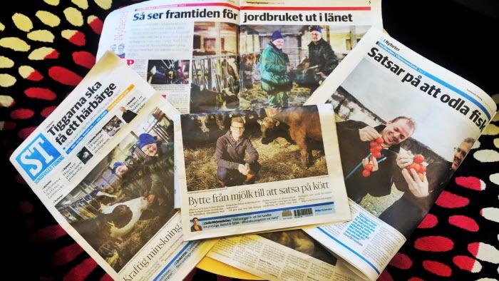Morgontidningar om jordbruk reportage om livsmedelsstrategin