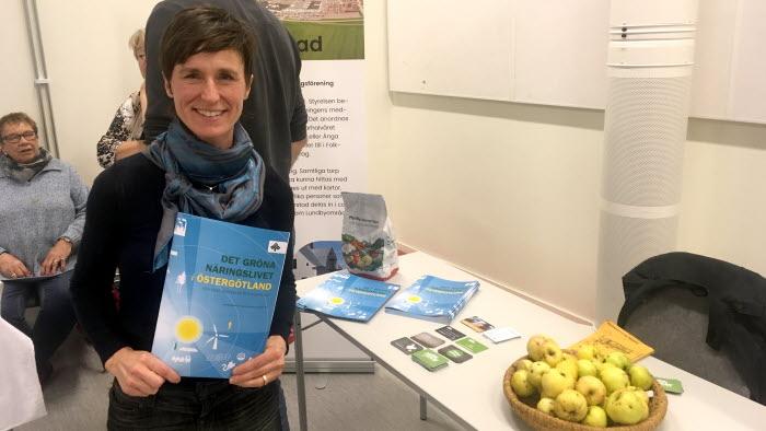 Caroline Davidsson lyfte fram företagandet på landsbygden.