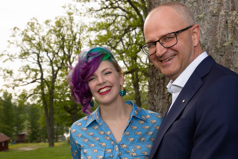 Emilia Astrenius Widerström och Palle Borgström