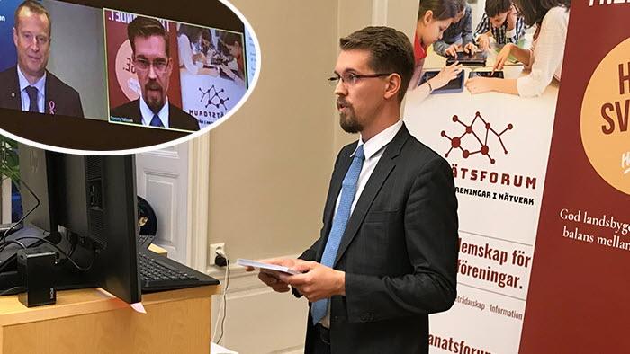 Byanätsforum höll ett möte där digitaliseringsminister Anders Ygeman deltog