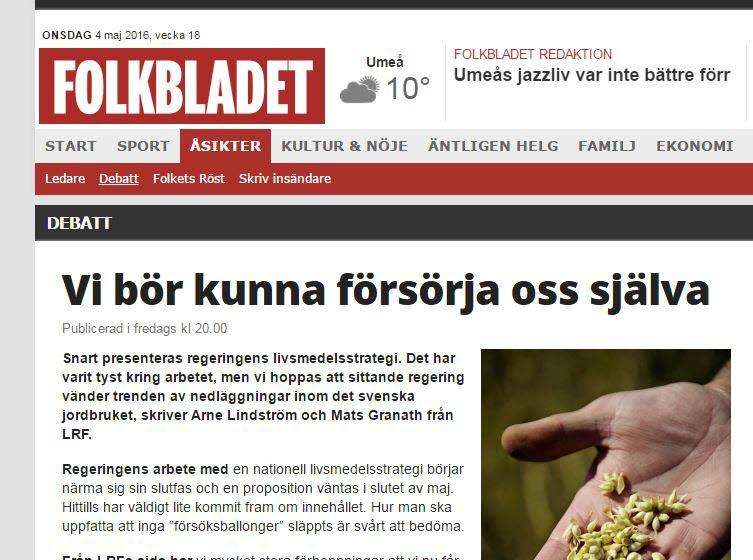 Skärmdump Folkbladet
