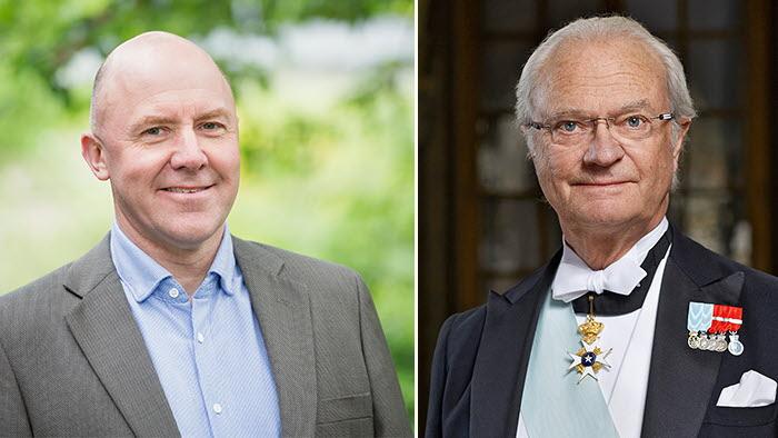 Sven Erik Hammar får medalj av kung Carl XVI Gustaf