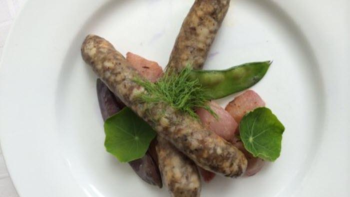 Bondens surkorv till vinnare. Det är en korv på vildsvinskött med mjölksyrabakterier istället för nitrit.