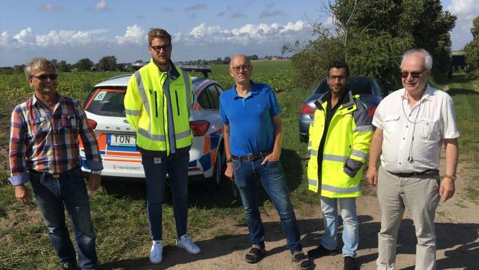 Jan Hultgren, LRF Skåne, Torsten Thuresson, markägare, Löderup och Birger Olsson, Nordic Sugar träffade Pierre Lundberg och Vali Harmid
