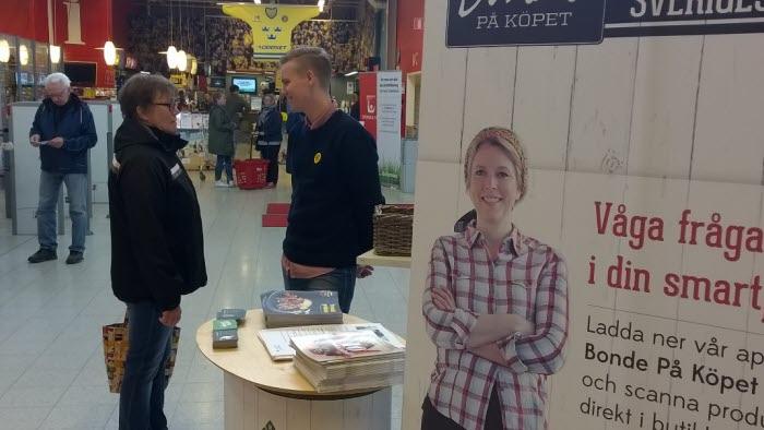 Bonde i butik ICA Maxi sundsvall