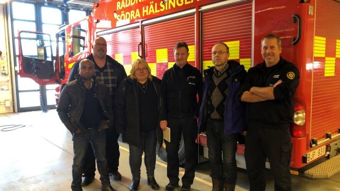 Brandmöte med Söderhamns räddningstjänst