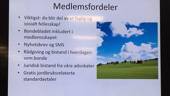 Medlemsfördelar Norges Bondelag
