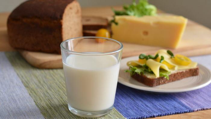 Frukost med mjölk och andra mejeriprodukter