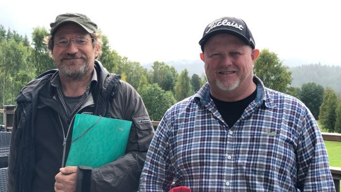 Olov Henriksson och Anders Olsson, projektledare Att arrangera aktiviteter på annans mark i Torsby kommun