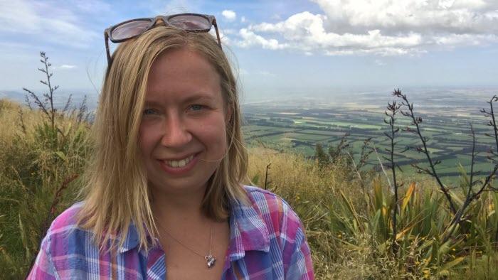 Catrin Gustavsson på resa i Nya Zeeland