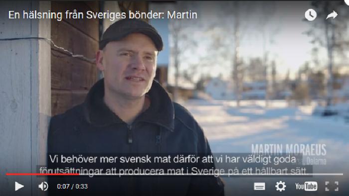 Film: En hälsning från Sveriges bönder, Martin, välj svensk mat
