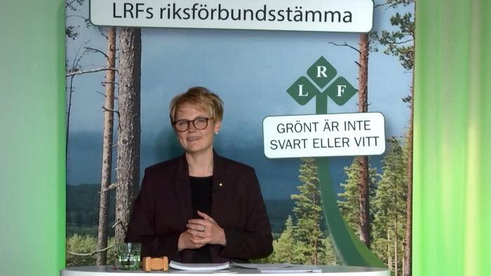 Anna Karin Hatt på riksförbundsstämman 2021