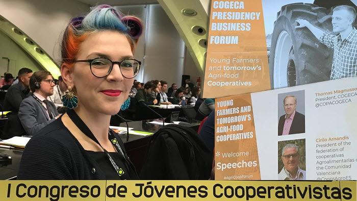 LRF Ungdomens Emilia Astrenius Widerström deltog på ungdomskooperationen i Valencia