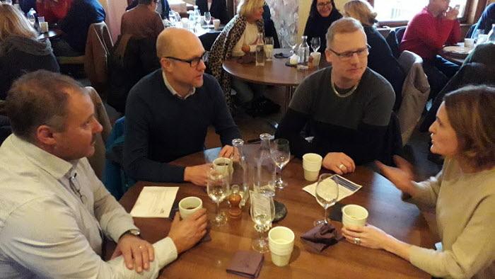 Halmstads kommungrupp lunchmöte med kommunen