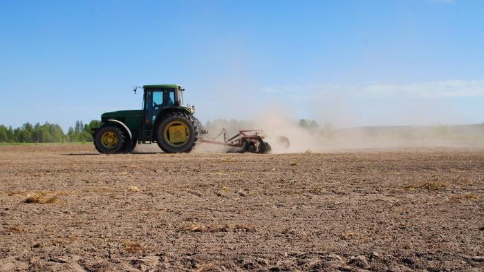 vårbruk, traktor, Västerbotten, maskin