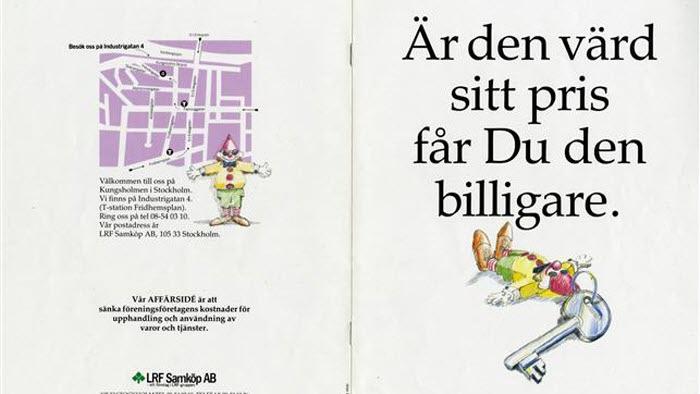 Tryckt reklambroschyr för LRF Samköp AB.