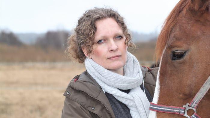 Erica Lindberg och en häst