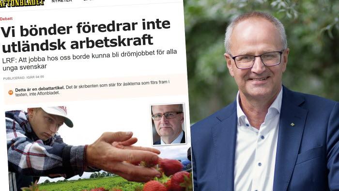 Palle Borgström om utländsk arbetskraft i Aftonbladet debatt