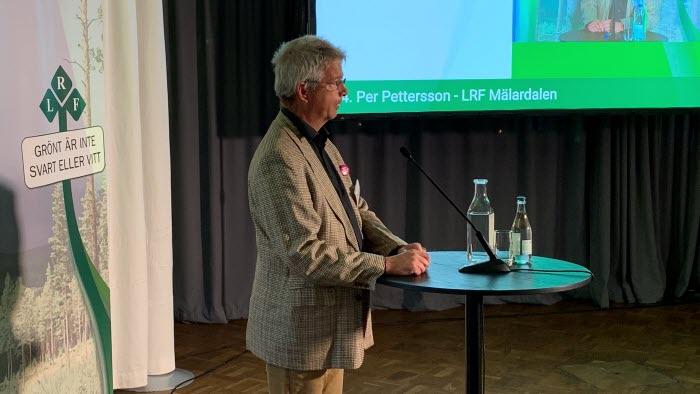 Per Pettersson, LRF Mälardalen, vid riksförbundsstämman 2021