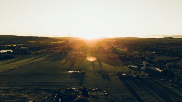 Fält, flygbild