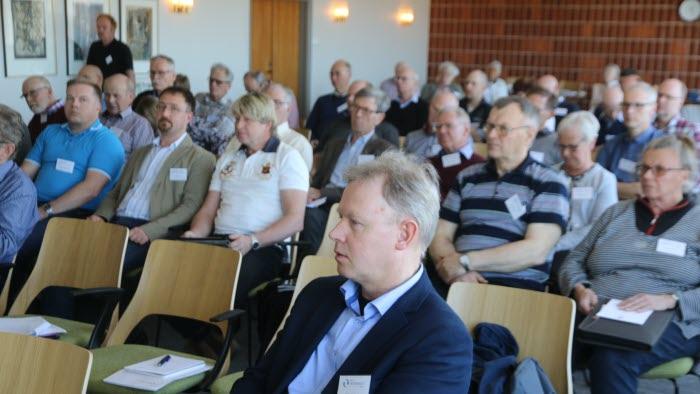 SVAF årsmöte. I förgrunden Mats Haglund, vice ordfröande i SVAF.